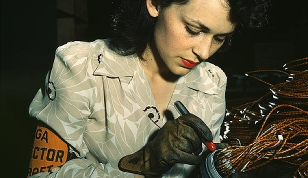 Woman Aircraft Worker, 1942
