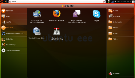 ubuntu eee Screenshot