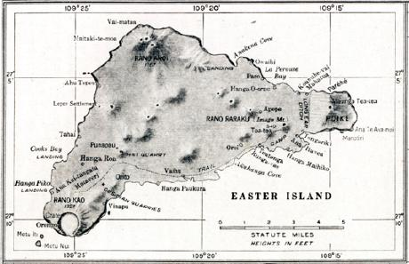 Vintage Map of Ister Island