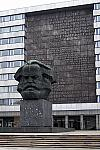 Photo des Karl-Marx-Denkmal »Nischel« in Chemnitz