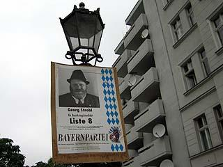 Bayernpartei in Berlin, Photo: Gabriele Kantel, 11.09.2005