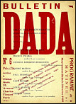 Dada 6 (Bulletin Dada),  ed. Tristan Tzara (Paris, February 1920), cover.