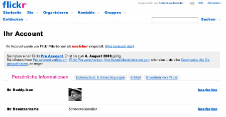 Flickr zensiert