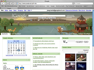 Screenshot iGoogle
