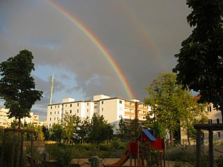 Regenbogen, Photo: Gabriele Kantel, 31.08.2003