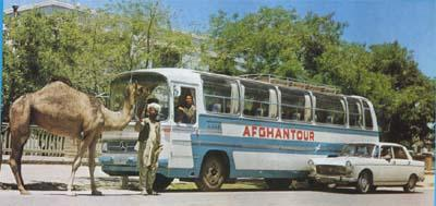 Afghan Tour: Afghan tourist bus.