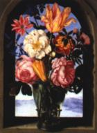 Ambrosius Boschaert: Bouquet of Flowers in an Arch, ca. 1620
