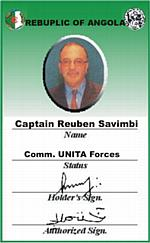 Business Card Captain Reuben Savimbi